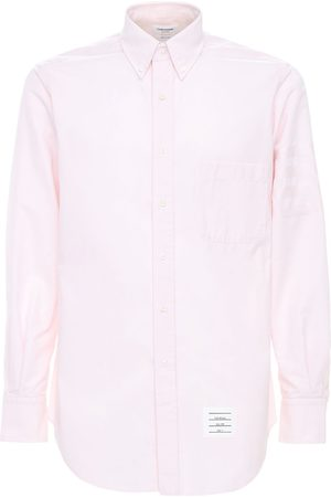 Thom Browne Cotton Oxford Shirt W/ Satin 4 Bar