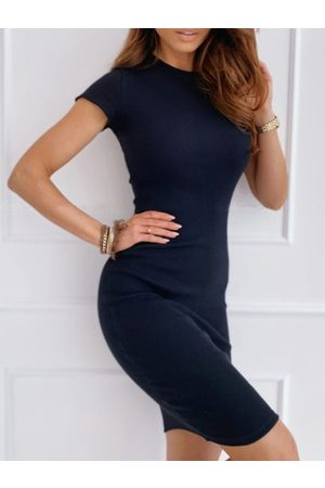 YOINS Crew neck Short sleeves Bodycon Hem Dress