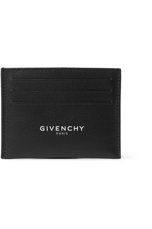 Givenchy Men Wallets - Logo-Print Leather Cardholder