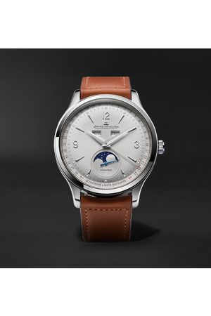 Jaeger-LeCoultre Master Control Calendar Automatic 40mm Stainless Steel and Leather Watch, Ref No. 4148420