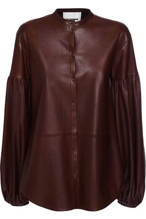 Jil Sander Leather Shirt W/ Balloon Sleeves