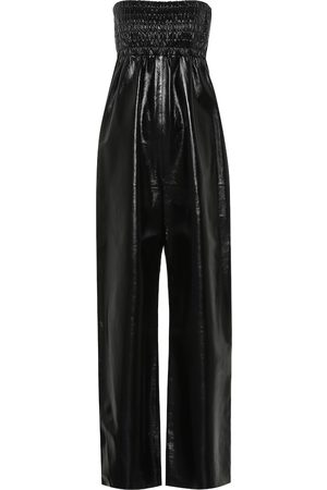 Bottega Veneta Strapless leather jumpsuit