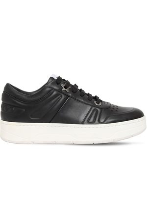 Jimmy Choo 30mm Hawaii Leather Sneakers