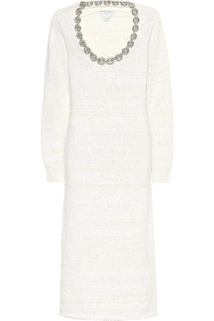 Bottega Veneta Cotton-blend midi dress