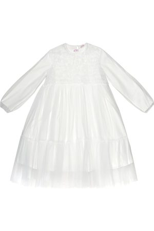 Il gufo Ruffled tulle dress