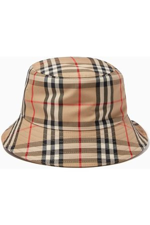 Burberry Women Hats - Bucket Hat in Vintage Check Cotton Blend
