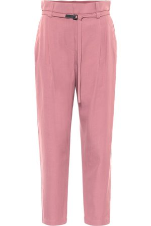 Brunello Cucinelli Wool and cotton cropped carrot pants