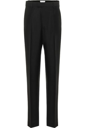 Bottega Veneta High-rise slim mohair-blend pants