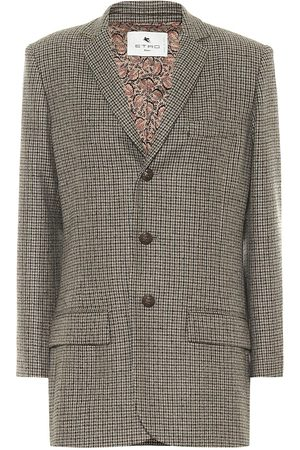 Etro Checked wool-blend blazer