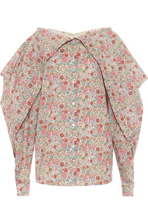 Y / PROJECT Floral cotton blouse
