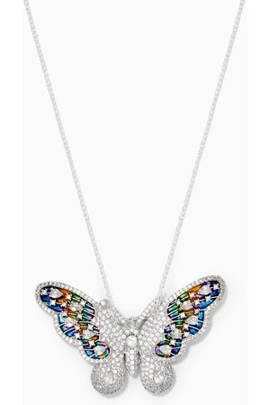 The Jewels Jar Butterfly Brooch Pendant Necklace in 925 Sterling