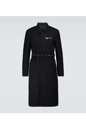RAF SIMONS Slim-fit wool trench coat