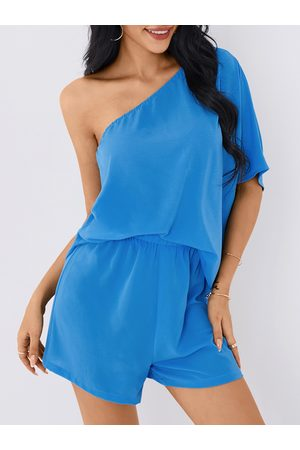 YOINS One Shoulder Half Sleeves Two Piece Outfits