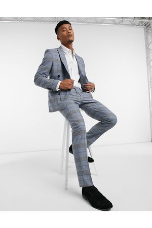 Twisted Tailor Skinny suit trousers in check