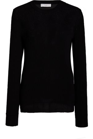 Givenchy Women Long Sleeve - Lace Stretch-Cotton Sweater