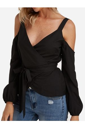 YOINS Self-tie Sleeves Blouses