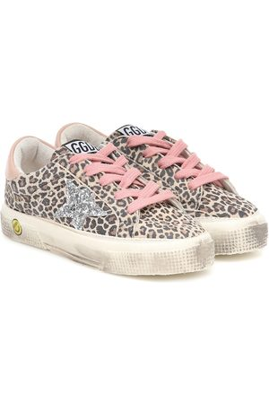 Golden Goose May leopard-print leather sneakers