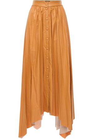 Isabel Marant Women Leather Skirts - Davies Pleated Faux Leather Skirt