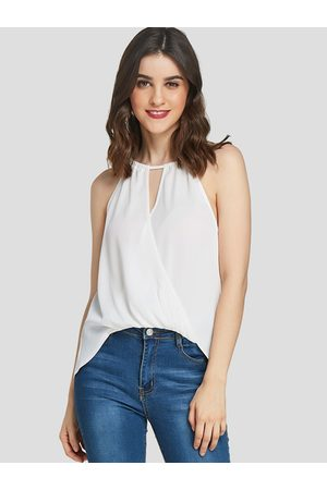YOINS Crossed Front Design Halter Sleeveless Blouse