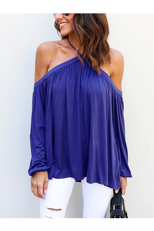 YOINS Sexy Halter Neck Long Sleeves Blouse