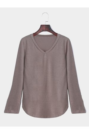 YOINS V-neck Long Sleeves Top