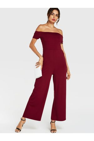 YOINS Off The Shoulder Wide Leg Jumpsuit