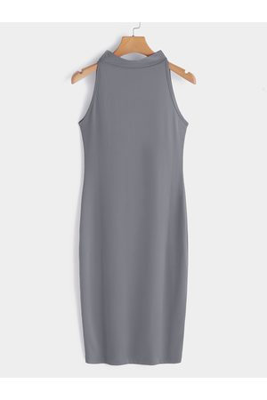 YOINS Sexy Perkins Collar Sleeveless Bodycon Dress