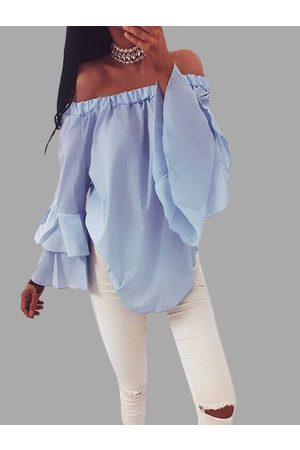 YOINS Chiffon Off-The-Shoulder Top in