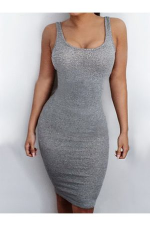 YOINS Sexy Open Back Bodycon Dress