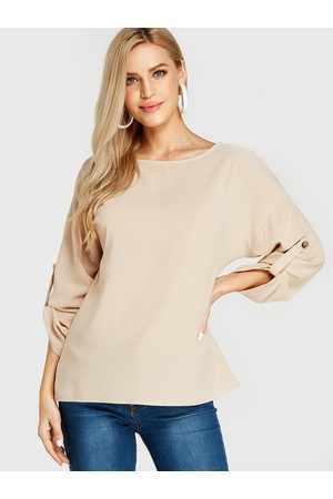 YOINS Round Neck Long Sleeves Blouses