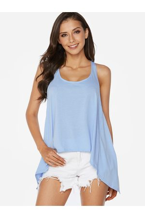 YOINS Sky Sexy Halter Backless Irregular Hem Vest