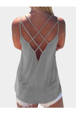 YOINS Sleeveless Cross Front Top