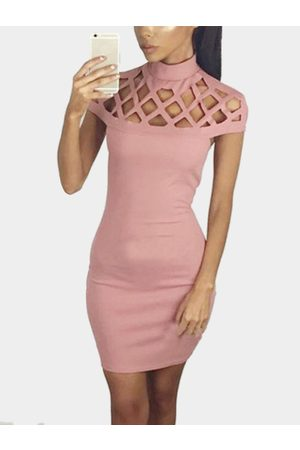 YOINS Sexy Hollow Details Sleeveless Party Dress