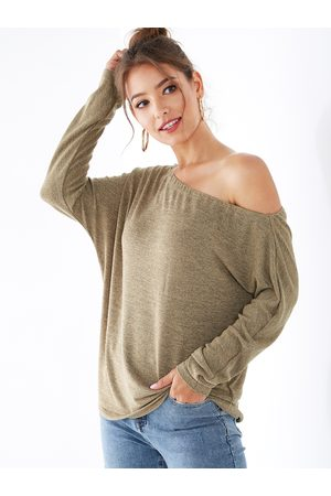 YOINS BASICS One Shoulder Long Sleeves Knit Top