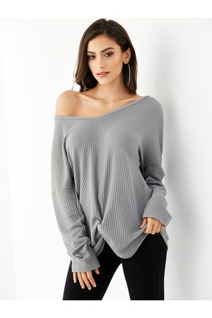 YOINS Twisted Design Long Sleeves Knit Top
