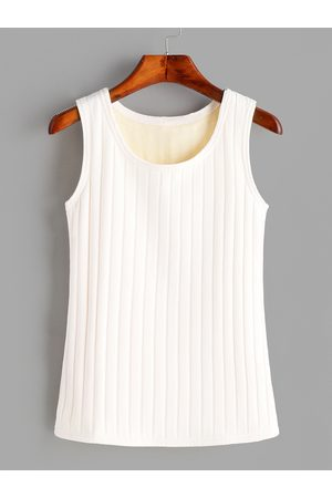 YOINS Round Neck Sleeveless Plush Lining Tank Top