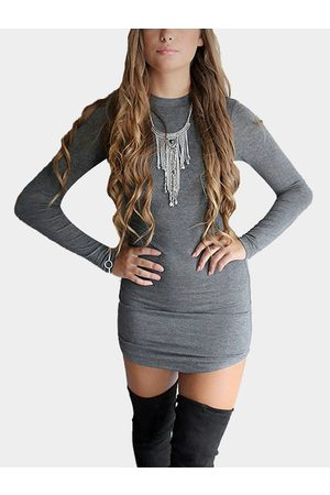 YOINS Dark Pullover High Neck Bodycon Fit Dress