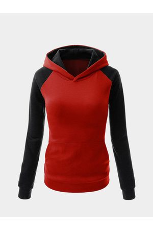 YOINS Fashion Hoodie With Contrast Sleeve