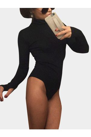 YOINS High Neck Long Sleeves Bodycon Bodysuit