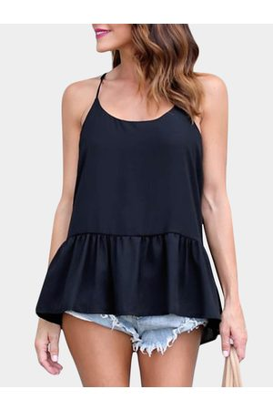 YOINS Casual Halter Sleeveless T-shirts