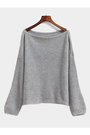 YOINS Ladies Round Neck Long Sleeve Top Knit Sweater