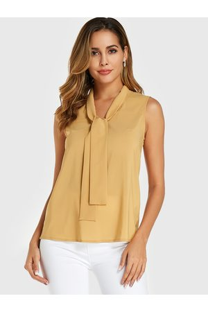 YOINS Tie-up design Chiffon Sleeveless Top