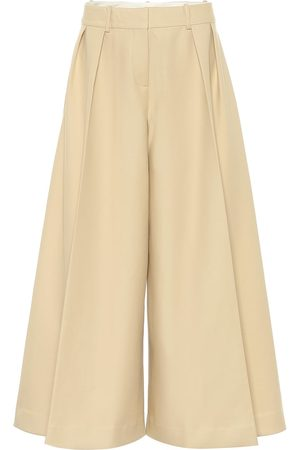 Khaite Helina high-rise cotton culottes