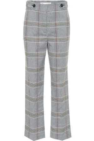 VERONICA BEARD Isley high-rise checked cotton-blend pants
