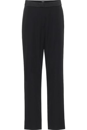 Balmain Low-rise straight satin pants