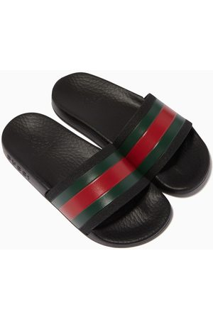 Gucci Striped Band Rubber Slides