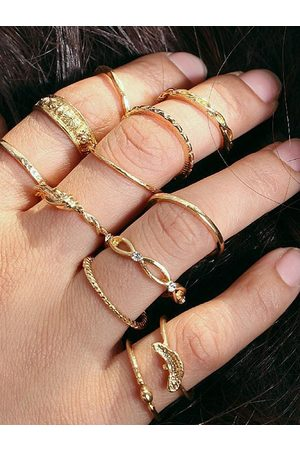 YOINS Bohemian Ancient Gold Twelve-piece Rings Set