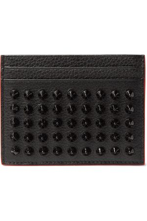 Christian Louboutin Studded Full-Grain Leather Cardholder