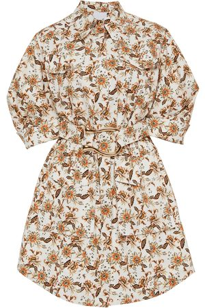 Acler Willow -Print Belted Cotton Mini Dress