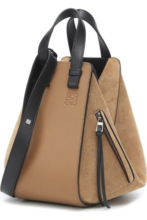 Loewe Hammock Small suede and leather shoulder bag